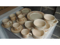 Tea and Dinner Set - Large and Small Plates, Cups, Saucers and Soup/Cereal Bowls