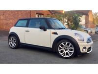 Mini Cooper D 2007 in pepper white with matching cream leather interior, 2007