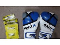 12oz RDX Ego Maya Hide Leather Boxing Gloves PLUS No Stink Glove Deodorizers