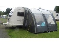FAST SALE NEEDED - EXTRA LARGE PORCH AWNING + CARPET COST £325 GOT 4WKS AGO UP ONCE & COMES IN BAGS