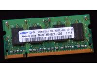 Samsung 512MB DDR2 PC2 4200 SODIMM (Laptop Memory)