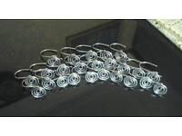 24 Chrome Shower Curtain Rings