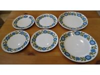 J&G MEAKIN TOPIC 6 x PLATES - 2 x DINNER PLATES AND 4 x SIDE PLATES