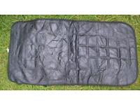 Car seat cover for full width and height of seat, black