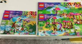 Lego friends x2 jungle rescue sets