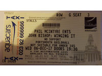 JOHN BISHOP : WINGING IT - PORTSMOUTH GUILDHALL - 6TH DECEMBER 2017 - GREAT SEAT IN THE STALLS!!