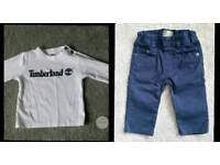 Baby Timberland top and Jean set 6mths