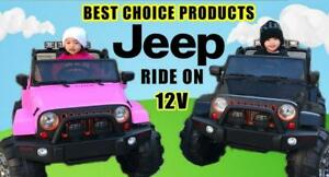 Jeep Kids Ride On Toy Car | Remote Control | 12V Battery, MP3 Player, & Leather Seat  | Free Shipping & Pick up