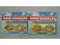 Two pairs of new unused packaged swim googles