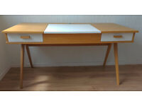 Desk, Dressing Makeup Table, with flip top mirror