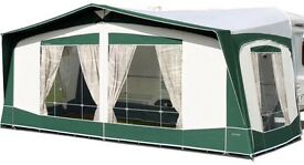 BRADCOT CLASSIC GREEEN 1020 caravan awning unused except for trial fitting