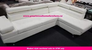 MODERN STYLE SECTIONAL BLACK OR WHITE..$799 ONLY