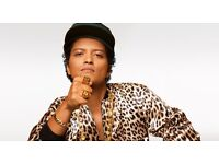 2 Bruno Mars tickets for tonights show in O2 London