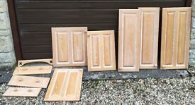 Limed oak kitchen doors and drawers