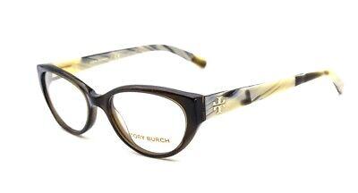 Tory Burch TY 2021 1078 Eyeglasses Glasses Dark Green Olive Horn (Dark Eye Glasses)