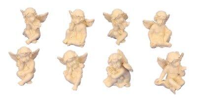 8 verschiedene süsse, kleine Engel Figuren je 3cm