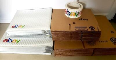 Ebay Branded Shipping Supplies Business Kit Lot Box Padded Envelope Tape 41pc