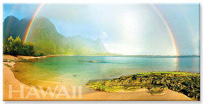 Panoramic Hawaiian Refrigerator Magnet - Rainbow Kauai by Michael & Monica (Rainbow Refrigerator)