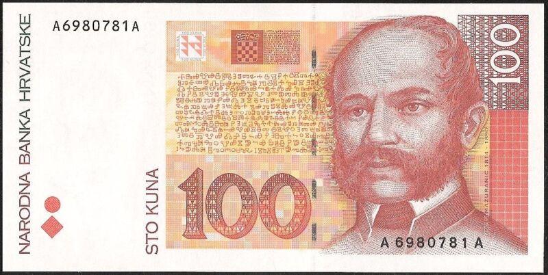 CROATIA 100 KUNA 1993 P:32 UNC