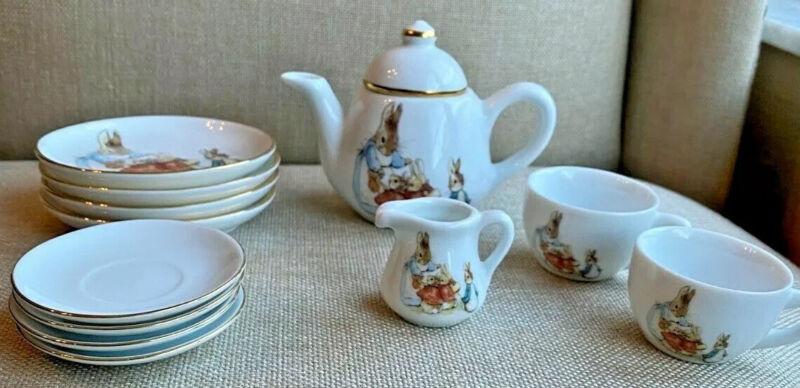 Beatrix Potter Peter Rabbit Porcelain Mini Tea Set  Kinder Porzellan Germany