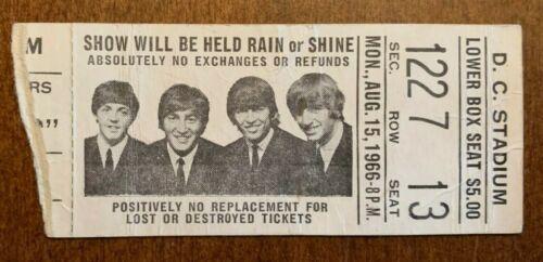 Rare Aug. 15,1966 Beatles Concert Ticket Stub D.C. Stadium PSA/DNA Guaranteed