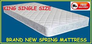 KING SINGLE Size Spring Mattress BRAND NEW and DELIVERED FREE New Farm Brisbane North East Preview