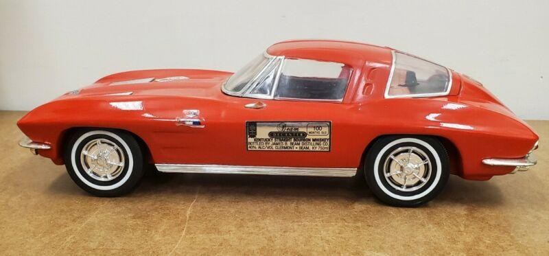 1963 Corvette Stingray A Jim Beam Decanter Item Color Red NO BOX Empty
