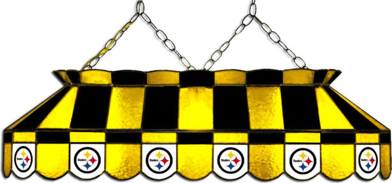 NFL Pittsburgh Steelers Stained Glass Pool/Billiard Table Light - NEW!!!
