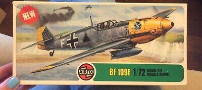 1975 Airfix Messerschmitt Bf109E 1/72 Scale Model Kit 02048-8 Series 2