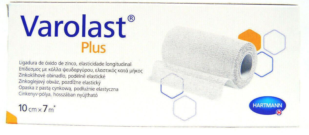 Wundversorgung Zinkleimbinde Varolast Plus weiß 10 cm x 7 m  längsel. REF 931583