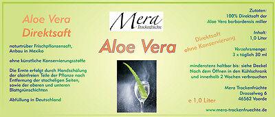 1 Liter Aloe Vera-Saft (Glasflasche), 100% Direktsaft