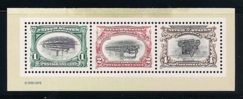 PAN-AMERICAN EXPOSITION INVERTS - SET OF 3 STAMPS - MINT CONDITION