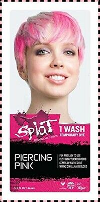 Dye Wash - Splat 1 Wash Washables Hair Color (PIERCING PINK) Temporary Dye