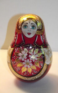 HAND PAINTED MUSICAL ROLY POLY RUSSIAN MATRYOSHKA  from SERGIEV POSAD