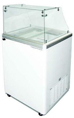 Commercial Ice Cream Dipping Cabinet Straight Glass Edc-4