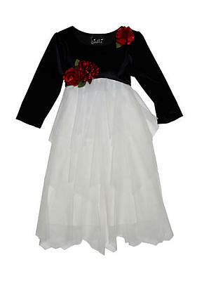 - BISCOTTI® Girls' 4, 5 Velvet Bodice Netting Holiday Dress NWT $72