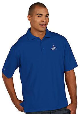 Los Angeles Dodgers Antigua Embroidered Pique Xtra Lite Blue Polo Golf Shirt