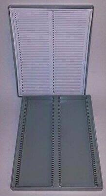 Microscope Slide Storage Box 2-piece Molded Polystyrene 100 Slide Capacity