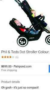 Phil and Teds Dot stroller with double attachment
