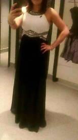 Debenhams black and white maxi dress, size 12