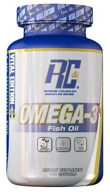Ronnie Coleman Omega - 3 (120 Caps)- 2000mg Fisch Öl  Vital Edition Fish Oil