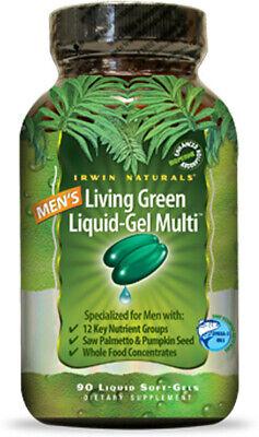 Men's Living Green Liquid-Gel Multi, Irwin Naturals,