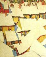 "A.J. Casson ""Roof Tops"" Lithograph - Appraised at $1600"