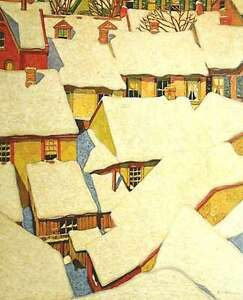 """A.J. Casson """"Roof Tops"""" Lithograph - Appraised at $1600 London Ontario image 1"""