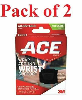 Ace Wrap Around Wrist Support Adjustable Moderate Support 1 Ea (Pack of 2)