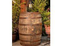Large oak barrels & half barrel planters available
