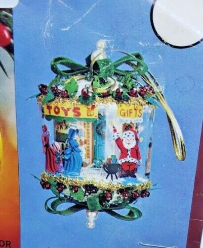 Walco Holiday CHRISTMAS EVE Panorama Carousel Vintage Sequin Bead Ornament Kit