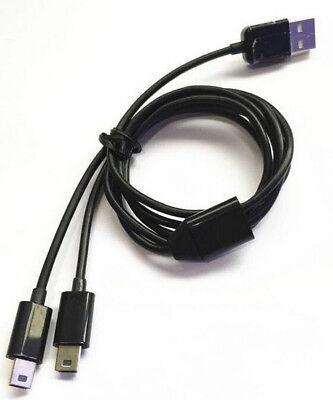 1m USB 2.0 A Male to 2 Mini B 5Pin Male Jack...