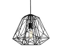 Large HIVE black cage ceiling light, pendant, chandelier