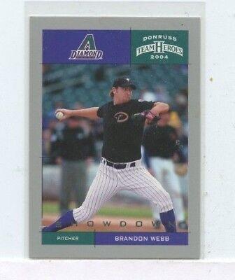 BRANDON WEBB 2004 Donruss Team Heroes Arizona Diamondbacks #D /50